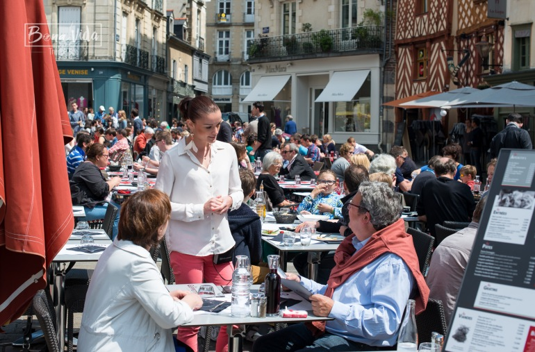 Place Rallier du Baty, Rennes. Bretanya