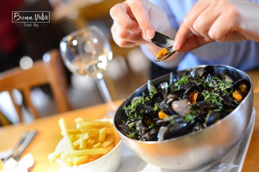 Bretanya, Roscoff. Restaurant Le Moule au Pot