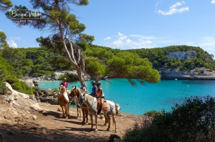 Es poden fer excursions a cavall per l'illa