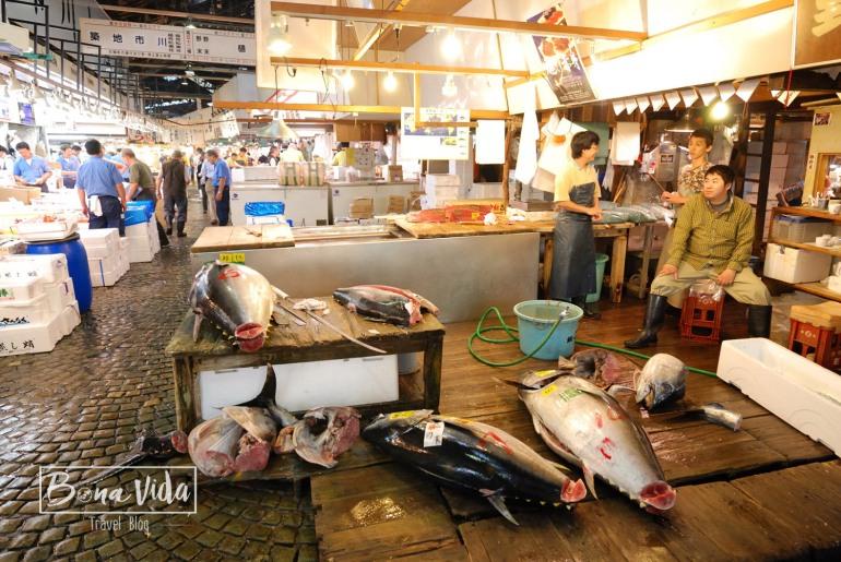 Visita al mercat del peix de Tsukiji a Tokyo.