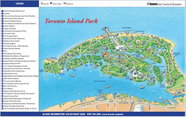 mapa petit toronto islands