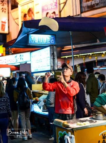 qué comer en el mercado nocturno de shilin singapur