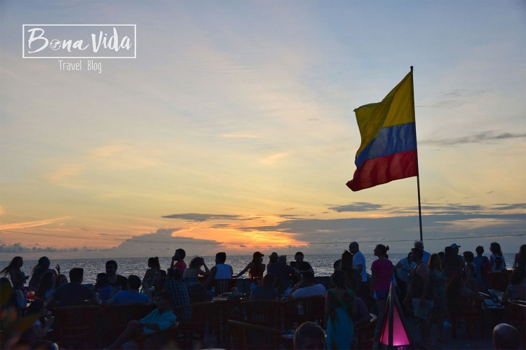 colombia cartagena sunset