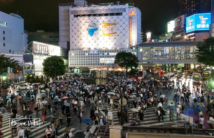 Barri de Shibuja a la nit. Tokyo