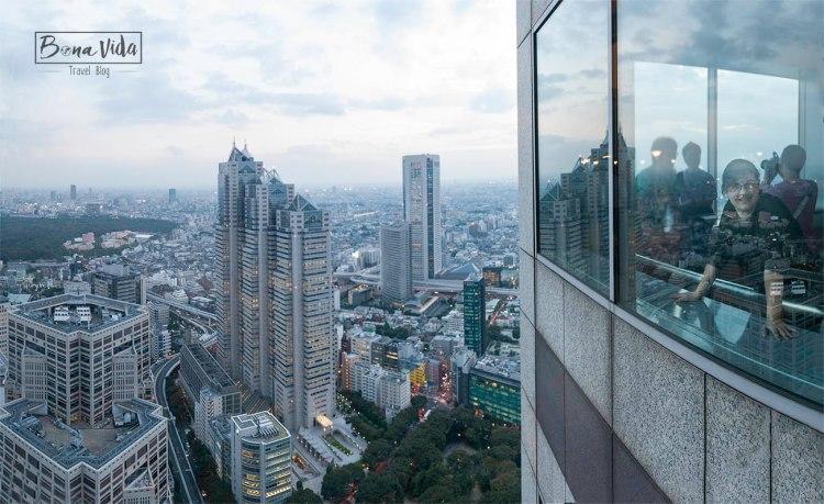 Vistes ciutat Tokyo des de observatori edifici govern
