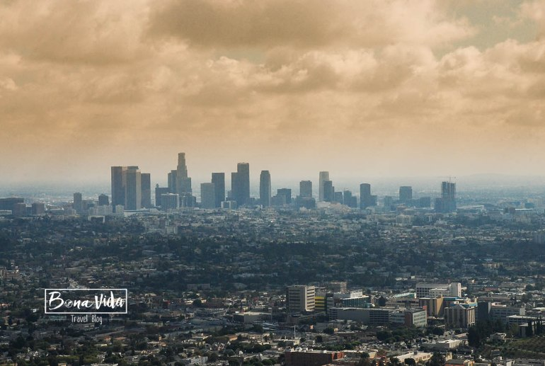 usa west coast los angeles skyline