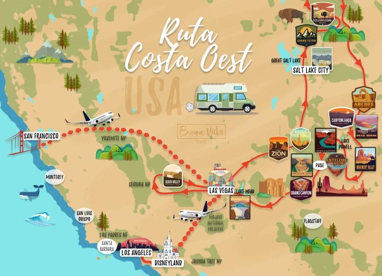 mapa ruta costa oest 02 cat